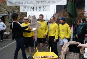 Copy of The finish of the Scallop race. The winners were Rye Sandwich Bar