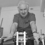 Gary Booth who spent five hours on the rollers during the Rye Wheelers 24 hour Indoor Cycle Marathon at the Rye Community Centre Sat/Sun 15/16 March.