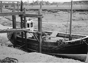 Fishing Boat at the Old Moorings Rye Fishmarket