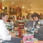 James Martin signs copies of his books.