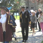 Rye Town Crier, Rex Swain leads the Procession
