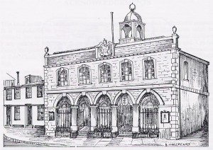 Rye Town Hall drawing by Brian Hargreaves