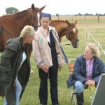 Nan Hacking (right) sorting out the problems at entrance gate to the
