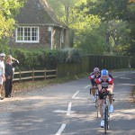 The Club's two most successful riders of 2005, Barry Goodsell and Jon Beasley riding together in the Gentlemen's two-up Team Time Trial.