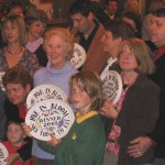 The 2005 winners with their David Sharp Pottery wall plates