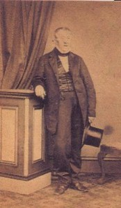 A carte de visite of Edwin's father taken at Gasson's circa 1860