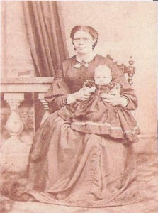 Caroline Gasson with one Edwin's children 1865
