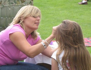 The Face Painting expert was hard at work all afternoon