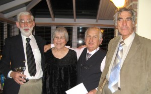 Jim Hollands (Left) with Esther Carpenter, Garry Booth and John Booty of the Wigmore