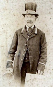 Edwin as Town Crier  probably taken soon after his appointment in 1877.