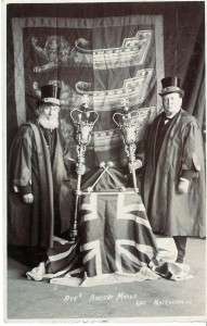 Edwin with the second macebearer, Charles Cook.