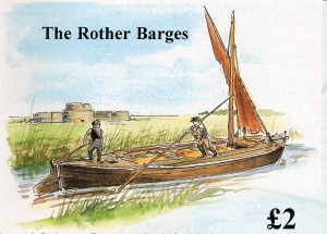 The Rother Barge Primrose  Water Colour by Connie Lindqvist