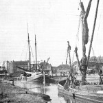 "Another German coaster (left) using Rye frequently for timber deliveries, "" "", she sailed under the British Flag, having been taken as 'spoils of War' in 1919"