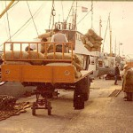 A 1950's cargo being unloaded on the Strand Quay.