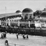 The famous bandstand at Hastings Pier Photo from the Roland Jempson Collection
