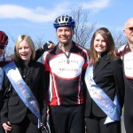 The Mayor and his Wheeler companions met all kinds of dignitaries on the 120 mile ride.