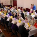 Ninety-seven senior citizens enjoy a fine lunch organised by the Rye Lions.