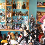 Just a small selection of the characters and models on display at Dudley & Jackie's colourful shop Cabbage'