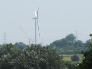 First Wind Turbine at Chayne Court Farm