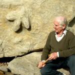 Iguanodon footprint found by Ken Brooks on the beach