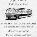 The coach that 'Pip' Sivers drove for Davies in the sixties and early