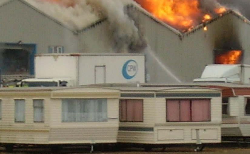 Fire at Rye Harbour