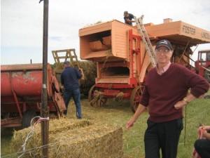 Brenzett Aero Museum Weekend. Vintage farm machinery like this threshing