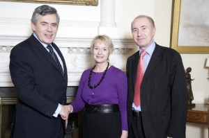 Grace Meets Prime Minister Gordon Brown at Number 10