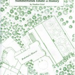 Book cover - 1:500 scale 1873 OS map showing Bohemia Mansion and part of the grounds, including the Ice House, at the bottom edge.