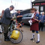 Town Crier Sees Kelvin on His Way