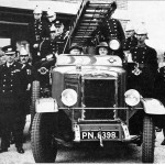 E F Benson with Rye's New Fire Engine 1937