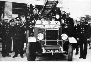 E F Benson with Rye's New Fire Engine 1936