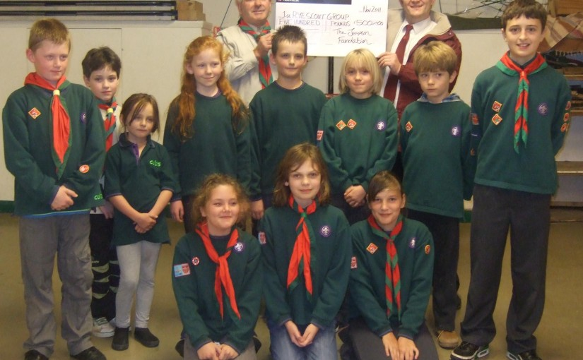 £500 Donation to Rye Scouts
