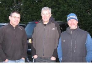 Steve Gooch, Nick Wilson and Barry Goodsell