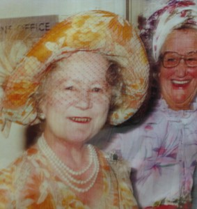 The Queen Mother at Davenport House in 1982 for official opening