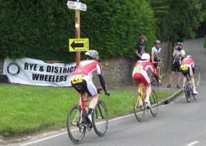 Avonlea -Treasure Road Team pass the Rye Wheelers cheering station