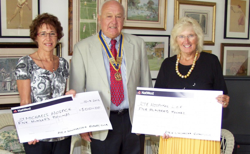 Hospice & Hospital Presentations by Rye Rotary