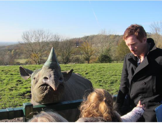 Damian Lewis visits Port Lympne Wild Animal Park