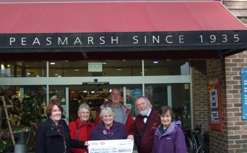 Jempson's Charity Box Donation for Peasmarsh Memorial Hall