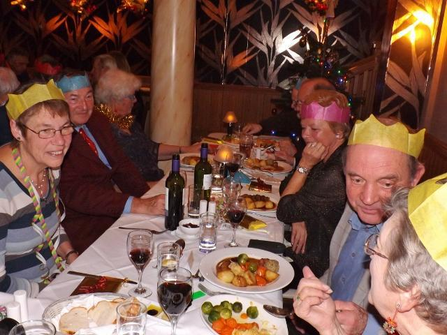 Lions Enjoy Christmas Dinner At Hope Anchor