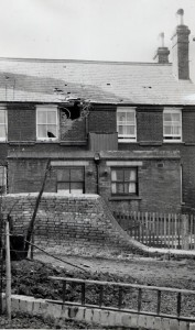 Through the back of the Police House, Battle Road, 11 March 1943
