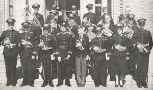 Robert Cutting (front row far right) as a Rye Town Bandsman