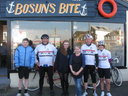 Wheelers Visit Bosun's for a Bite