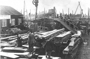 1944 and Merchant Fishing Vessels, to be used in the Pacific are being built in Rye