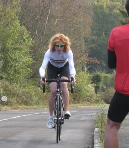 Bronwen wins the Wigmore Hill Climb