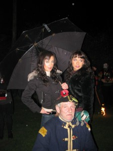 Jimper with the Cheeky Girls at Icklesham Bonfire