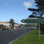The main road through Rye. Take the detour to the Ocean Beach if you fancy the thrill of the surf.