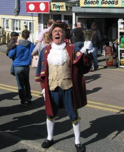 Rye Town Crier, Rex Swain at Dymchurch for the 2010 Day of Syn