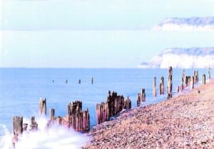 Winchelsea Beach with Fairlight Cliffs Beyond