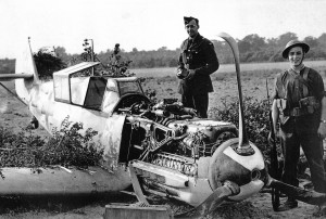 A Messerschmit 109 fighter downed in September 1940